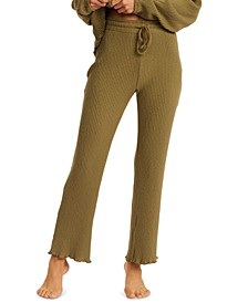 Juniors' Come Through Ribbed-Knit Pants