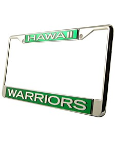 Hawaii Warriors Laser License Plate Frame