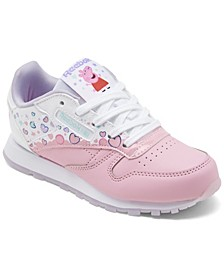 Little Girls Classic Leather Peppa Pig Casual Sneakers from Finish Line