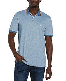 Men's Slim-Fit Tipped Birdseye Polo Shirt