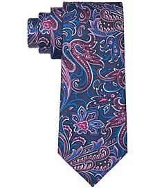 Men's Classic Textured Paisley Silk Twill Tie