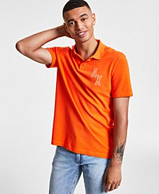 Men's Scattered Logo Polo Shirt, Created for Macy's