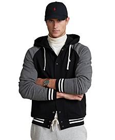 Men's Fleece Hooded Baseball Jacket