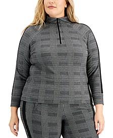 Plus Size Pullover Zip Top