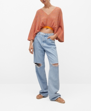 Women's Contrasting Knit Top