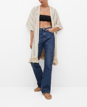 Women's Openwork Knit Cardigan