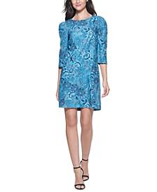 Soft Corduroy Printed Dress