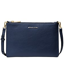 Jet Set Large Leather Double Pouch Crossbody
