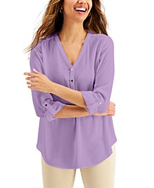 Petite Y-Neck Top, Created for Macy's