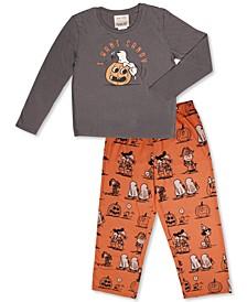 Matching Kids Vintage Snoopy & Friends Halloween Family Pajama Set