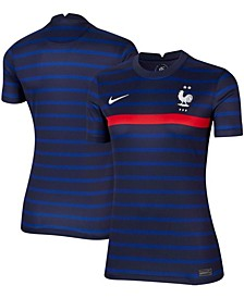 Women's Black and Blue France National Team 2020/21 Home Stadium Replica Jersey