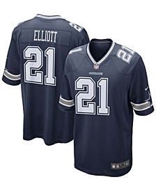 Men's Ezekiel Elliott Navy Dallas Cowboys Game Team Jersey