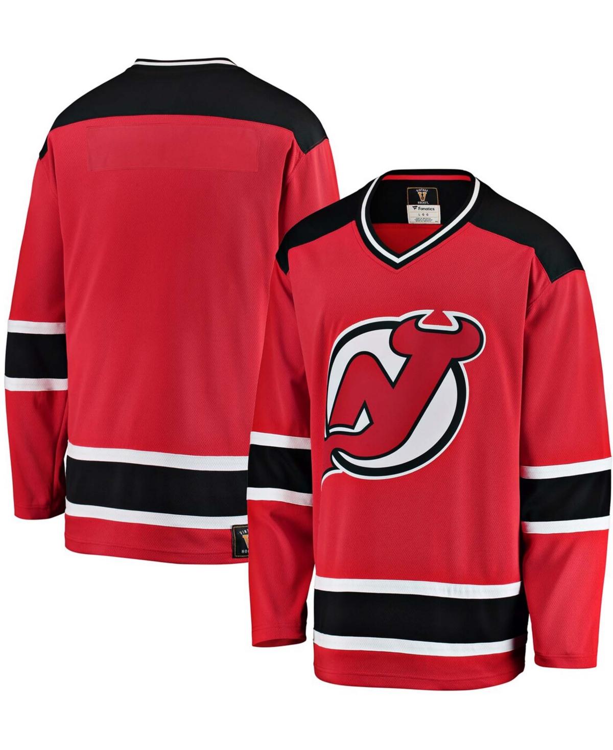 Men's Red New Jersey Devils Premier Breakaway Heritage Blank Jersey
