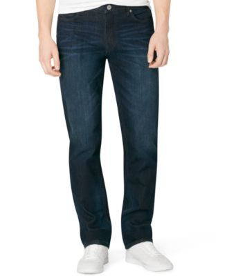 Slim straight jeans for guys