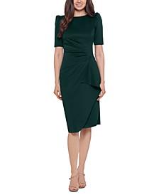 Petite Draped-Detail Bodycon Dress