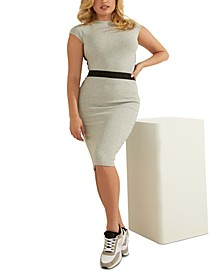 Rose Mock-Neck Top & Amy Ribbed Pencil Skirt
