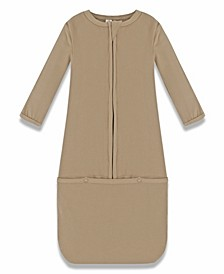 Baby Boys and Girls Viscose from Bamboo Ribbed Convertible Zip Gown