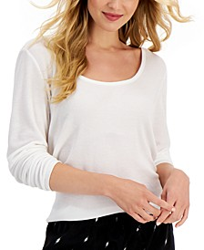 Solid Long-Sleeve Pajama Top, Created for Macy's