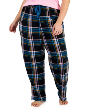 Plus Size Cotton Plaid Pajama Pants