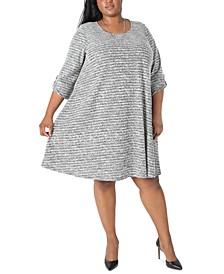 Plus Size A-Line Necklace Dress
