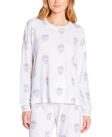 Butter Jersey Printed Long-Sleeve Pajama Top