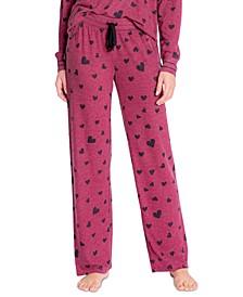 Printed Open-Leg Pajama Pants