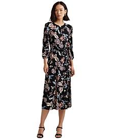 Floral Blouson-Sleeve Dress