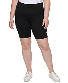 Plus Size Graphic Bike Shorts