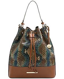 Marlowe Embossed Leather Shoulder Bag