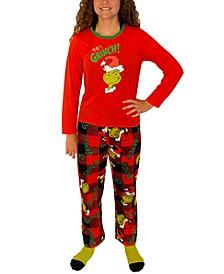 Matching Little & Big Girls 3-Pc. Grinch Family Pajama Set