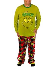 Matching Men's Grinch Family Pajama Set