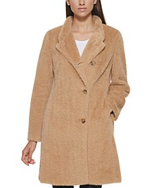 Petite Soft-Touch Coat, Created for Macy's