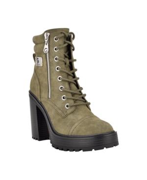 Women's Sheeva Heeled Platform Lace Up Lug Sole Booties Women's Shoes