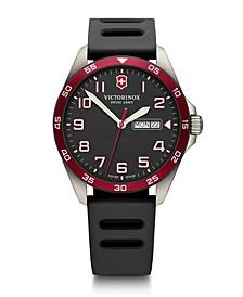 FieldForce Titanium Black Rubber Strap Watch 42mm - A Limited Edition