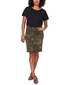 Camouflage-Print Tummy-Control Skirt
