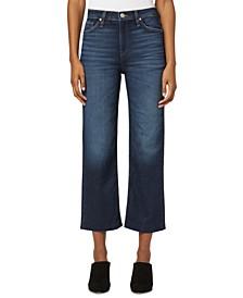 Remi High-Rise Straight-Leg Cropped Denim Jeans