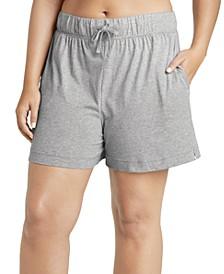 Plus Size Knit Drawstring Boxer Pajama Shorts