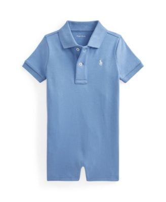 폴로 랄프로렌 Polo Ralph Lauren Baby Boys Interlock Shortall,Campus Blue