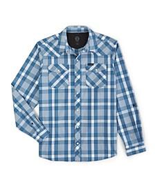 Men's Western Plaid Utility Long Sleeve Shirt