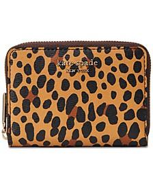 Spencer Leopard Zip Card Case