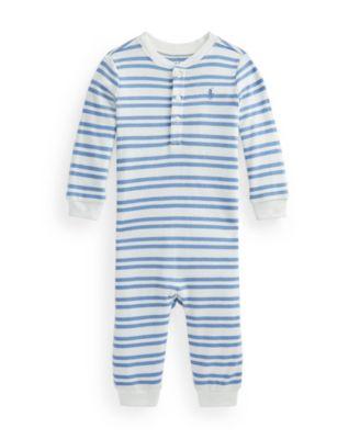 폴로 랄프로렌 Polo Ralph Lauren Baby Boys Striped Coverall One Piece
