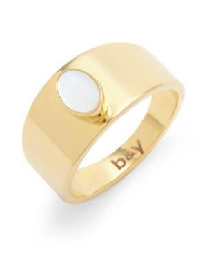 Riley 14K Gold Plated Mother of Pearl Ring