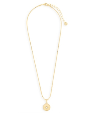 Rosa 14K Gold Plated Coin Pendant Necklace