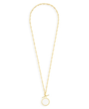 Layla 14K Gold Plated Toggle Necklace