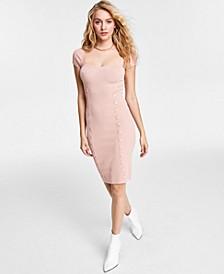 Margot Cap Sleeve Ribbed Midi Dress
