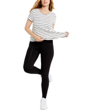 Compression-Waist Postpartum Leggings