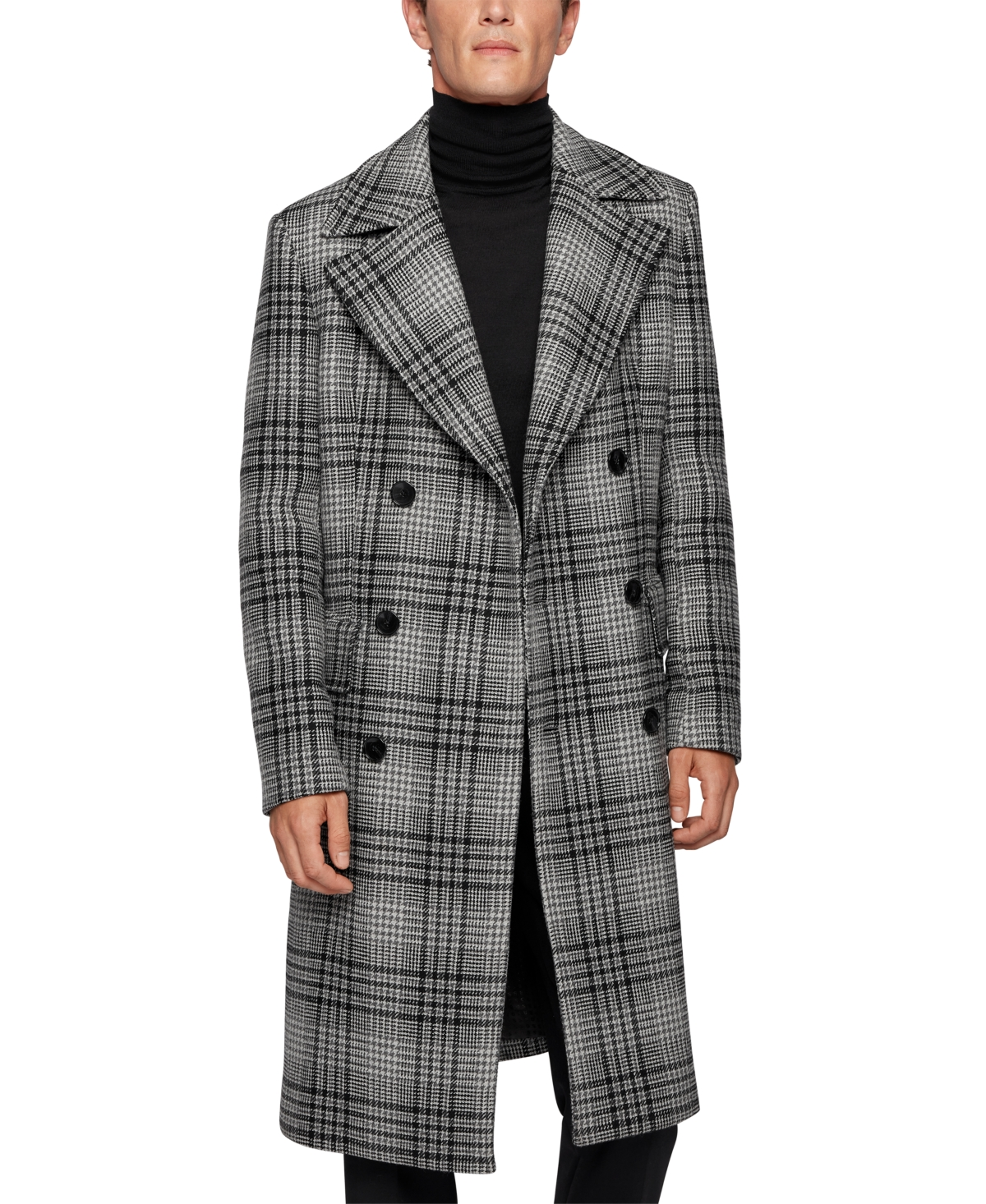 1920s Men's Style Clothing Boss Mens Wool Double-Breasted Coat $795.00 AT vintagedancer.com