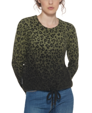 Leopard-Print Ombre Sweater