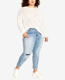 Plus Size Kailani Distressed Crop Jeans