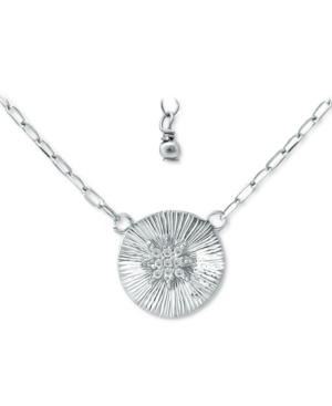 Cubic Zirconia Star Disc Pendant Necklace